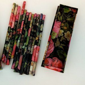 Floral Printed Pencils Box Set of 12